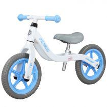 Bicicleta fara pedale (pedagogica) Forever Balance Bike, scaun reglabil, Alb/ Bleu