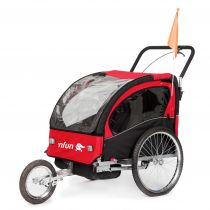 Carucior/remorca pentru bicicleta 'NFUN 'NCAB, rosu/negru
