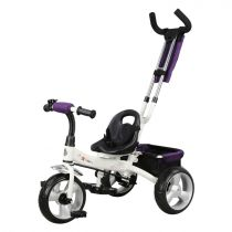 Tricicleta pentru copii Forever Tricycle cu maner parental, Alb