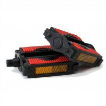 Pedale plastic negru / rosu 480017