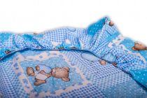 Cearceaf de pat cu elastic - diverse dimensiuni Crem / alb