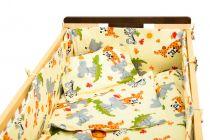 Garnitură de pat completă Amoraș 7 piese / Animale sălbatice crem