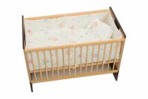 Garnitură de pat completă Amoraș 7 piese / Ursuleți cu balonașe alb 130 x 70 cm