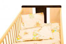 Set de pat Amoraș 5 piese / Iepurași crem