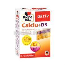 Doppelherz Aktiv Calciu + D3 30 comprimate + 10 comprimate Cadou