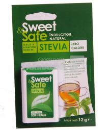 Sly Nutritia Sweet & Safe Indulcitor natural din stevia 200 tablete