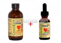 Vitamina C lichida pentru copii 118.5 ml + Vitamina D3 29.6 ml 50% din al II lea