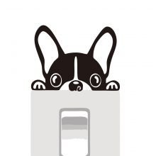 Sticker intrerupator Bulldog