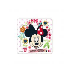 Sticker intrerupator Minnie cu flori 9x9 cm