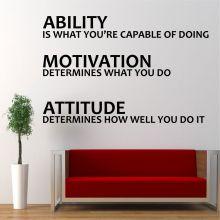 Sticker perete Ability, Motivation, Attitude