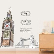 Sticker perete Big Ben & Tower Bridge