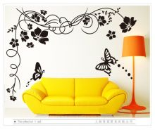Sticker perete Black Flower Decor 2