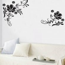 Sticker perete Black Flower Decor 3