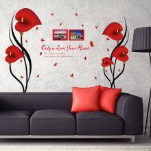 Sticker perete Cale rosii