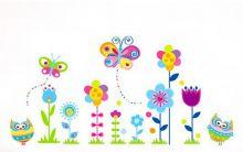 Sticker perete Colourful Flowers