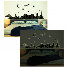 Sticker perete Glow in the Dark City
