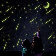 Sticker perete Glow in the Dark Shooting Stars