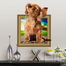 Sticker perete Here I am 3D Puppy 50x40cm