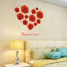 Sticker perete Love the rose modern romantic  60x90 cm