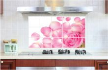 Sticker perete Pink Rose Kitchen Decor