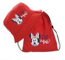 Palarie+sac sport Minnie -Rosu 50cm(2-3ani)