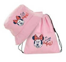 Palarie+sac sport Minnie -Roz