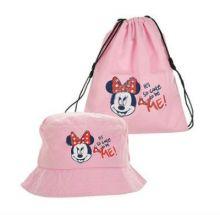 Palarie+sac sport Minnie -Roz 50cm(2-3ani)