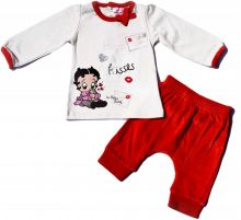 Set Bluza ML-pantalon bebe Betty-Rosu