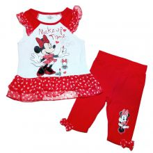 Set bluza+colant Minnie-Rosu