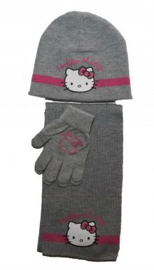 Set fes-fular-manusi Hello Kitty -Gri