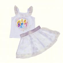 Set fusta - bluza Princess -Alb