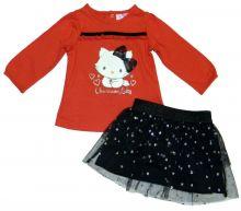 Set tricou- fusta Charmmykitty bebe-Rosu