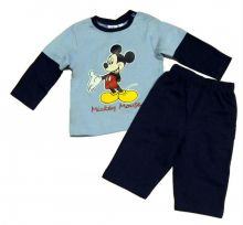 Set tricou ML-pantalon Mickey bebe