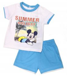 Set tricou + ps Mickey bebe -Alb
