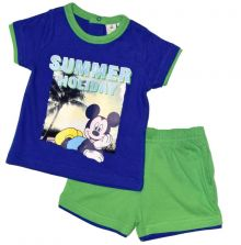 Set tricou + ps Mickey bebe -Albastru
