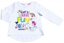 Tricou ML Charmmykitty bebe -Alb