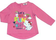 Tricou ML Charmmykitty bebe -Roz
