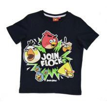 Tricou MS Angry Birds -Negru