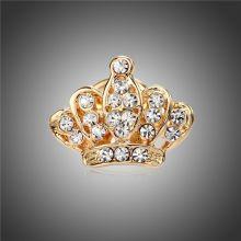 Brosa sacou coroana regala Landwick Auriu