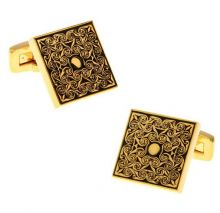 Butoni pentru camasa aurii cu model arab Arabesque