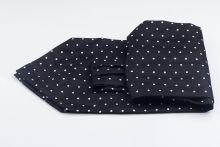 Cravata Ascot matase neagra Humphrey Bogart