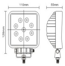 Proiector auto cu led 27 W 12-24 V