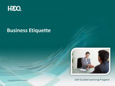 DEMO GRATUIT: Business Etiquette E-Learning