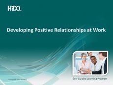 Developing positive relationships at work E-Learning