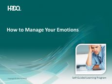 DEMO GRATUIT: How to Manage Your Emotions E-Learning