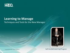 DEMO GRATUIT: Learning to manage E-Learning