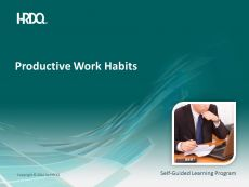 Productive work habits E-Learning