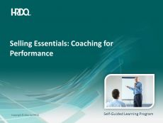 SELLING ESSENTIALS: Coaching for performance E-Learning