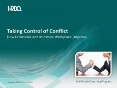 DEMO GRATUIT: Taking control of conflict E-Learning