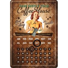 Calendar metalic de birou Coffee House(10/14cm)